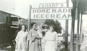 Sharp's Homemade Ice Cream Black & White